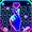 Tema Keyboard Love Heart Neon
