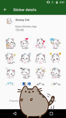 Image 3 of WAstickerApps Cats and Kittens Stickers