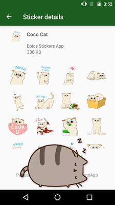 Image 1 of WAstickerApps Cats and Kittens Stickers