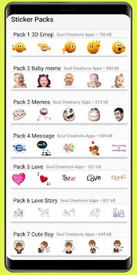Image 1 of WAStickerApps meme stickers and love stickers