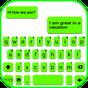 Tema Keyboard Neon Green Chat