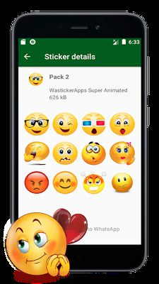 Image 7 of New Stickers of Emojis in 3D (WAstickerapps)