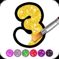 Εικονίδιο του Glitter Number and letters coloring Book for kids