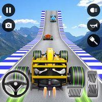 Icône de Formule voiture cascades 3D rampe voiture cascades