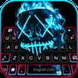 Tema Keyboard Neon Fire Purge Man