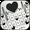 Thème de clavier Black Heartbeat