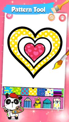 Image of Glitter Heart Love Coloring Book for Girls