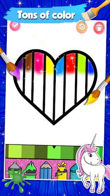 Image 10 of Glitter Heart Love Coloring Book for Girls