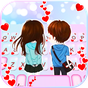 Tema Keyboard Young Couple Love