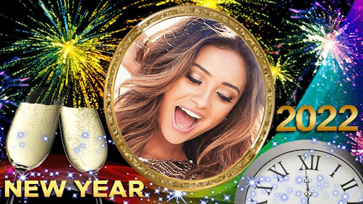 Image 1 of New Year Photo Frame 2020