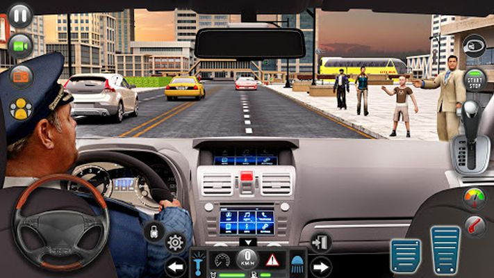 Image 1 of Taxi car simulation car games free games
