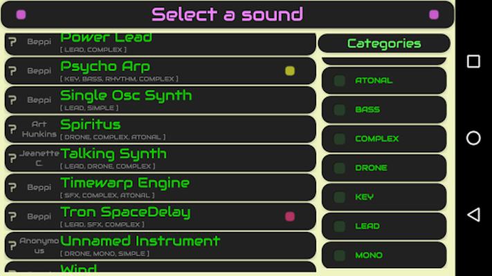 Image 14 of QiBrd: Free virtual analog synthesizer