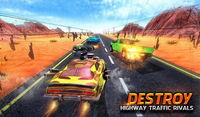 Image 3 of angry rival traffic car death race