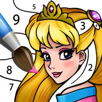 Princess Coloring Book: Magic Color by Number APK Icon
