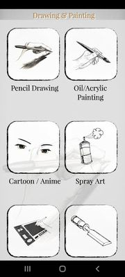 Drawing and painting picture