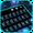 Tema Keyboard Blue Neon Galaxy
