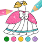 Dress Up & Girls Colouring Pages Glitter
