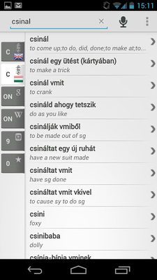 Image 9 from Free Dict Hungarian English