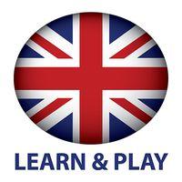 Ícone do Aprender e jogar. Inglês 1000 palavras