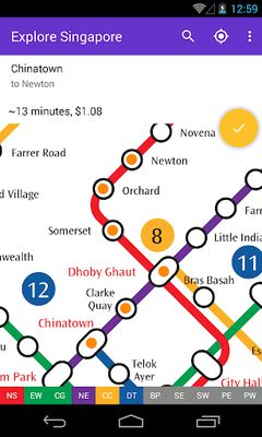 Image 2 of Explore Singapore MRT map
