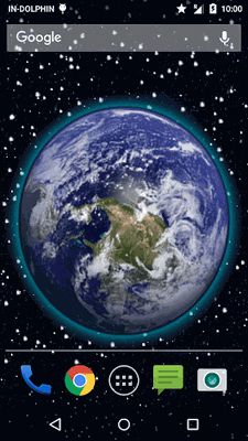 Image 1 of 3D Moving Earth Live Wallpaper