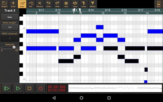 Image from Audio Evolution Mobile Studio