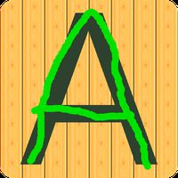 Kids letters tracing: write icon