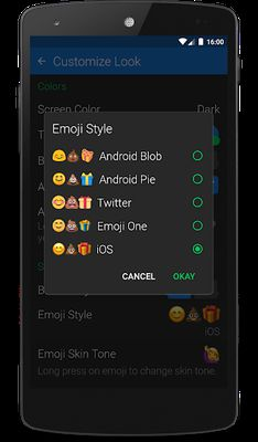 Textra Emoji - iOS Style Screenshot Apk 1