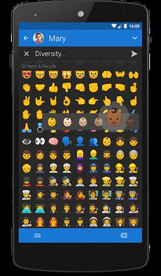 Textra Emoji - iOS Style screenshot apk 0