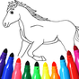 Cavalo jogo de colorir