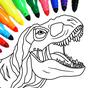 Dinosaurio juego de color