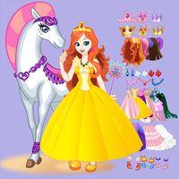 Beyaz Atlı Prensesi Giydir Simgesi