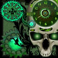 Ikon Steampunk Clock Live Wallpaper