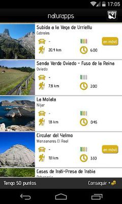 Image of Naturapps hiking trails