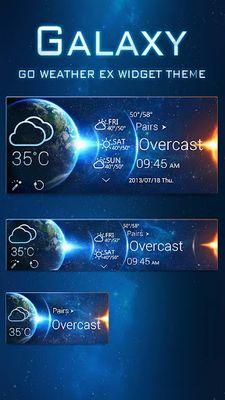 Image 1 of Galaxy Theme GO Weather EX