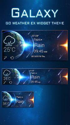 Image of Galaxy Theme GO Weather EX