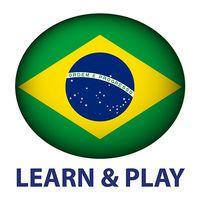 Ícone do Aprender e jogar. Português