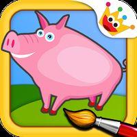 Bauernhof: Malen & Tiere Spiele für kinder gratis Icon