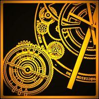 Ícone do Hypno Clock Live Wallpaper