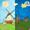 Cartoon Grassland windmill FLW