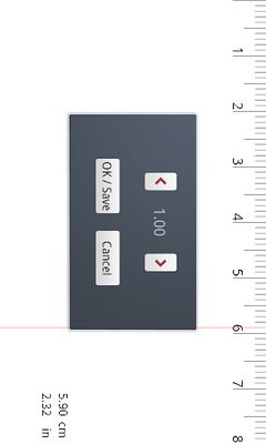 Ruler image 1 (centimeters, inches)
