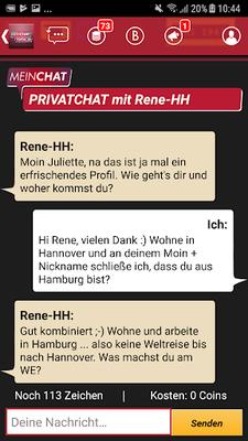 Downloaden Sie die kostenlose Mein Chat Portal- RTL SMS