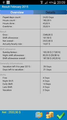 Shift Wage Planer Image 3