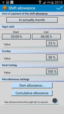 Shift Wage Planer Image