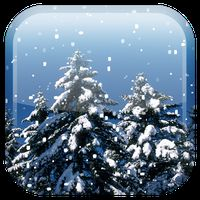 Sneeuwval live achtergrond icon