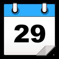 Ícone do calendário mensal - moderno
