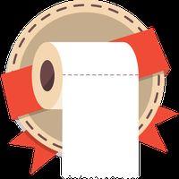 Make It Roll: WC paper rain icon