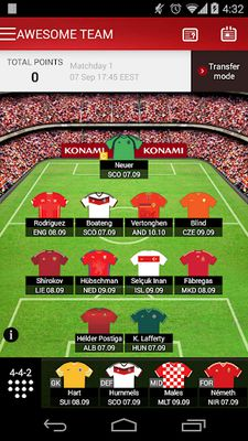 Fantasy UEFA Euro Qualifiers screenshot apk 6