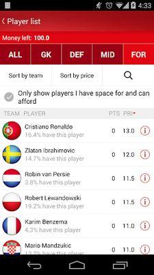 Fantasy UEFA Euro Qualifiers screenshot apk 5