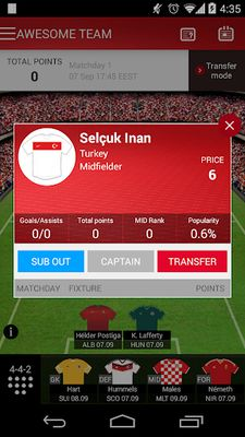 Fantasy UEFA Euro Qualifiers screenshot apk 4